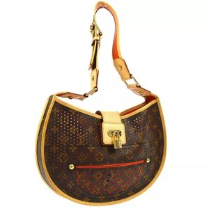 * DEMI LUNE SHOULDER BAG PURSE MONOGRAM PERFO